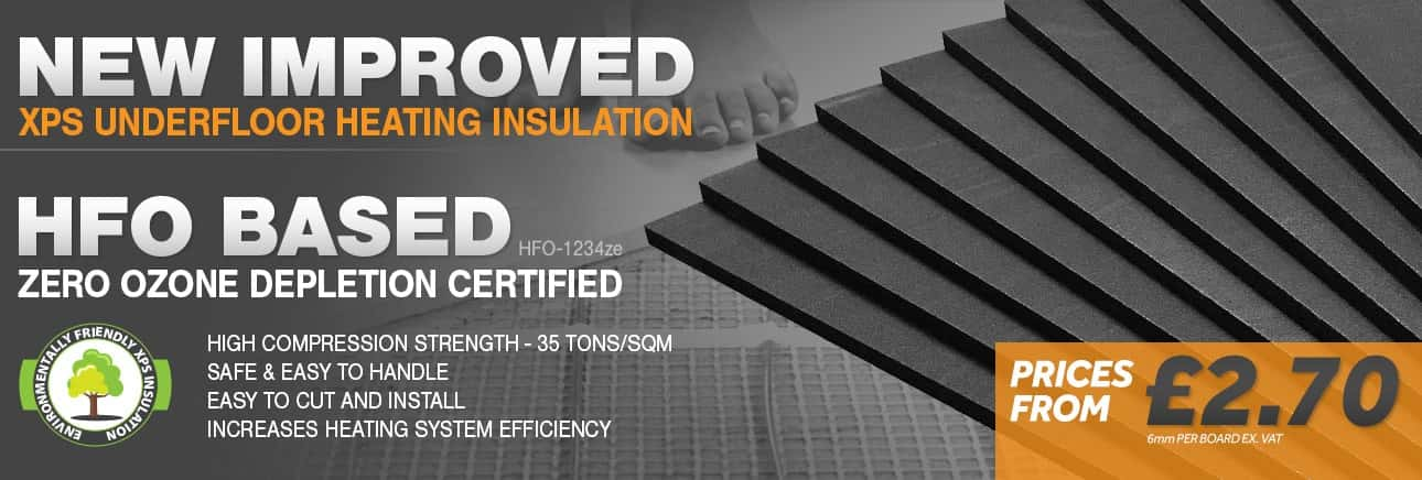 XPS Underfloor Heating Hard Insulation Boards