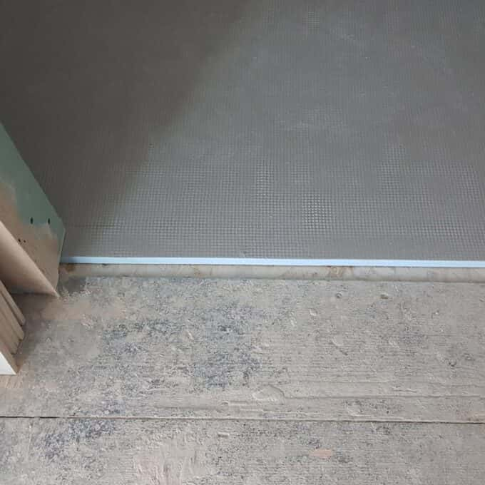 Tile Backer Board Typical installation