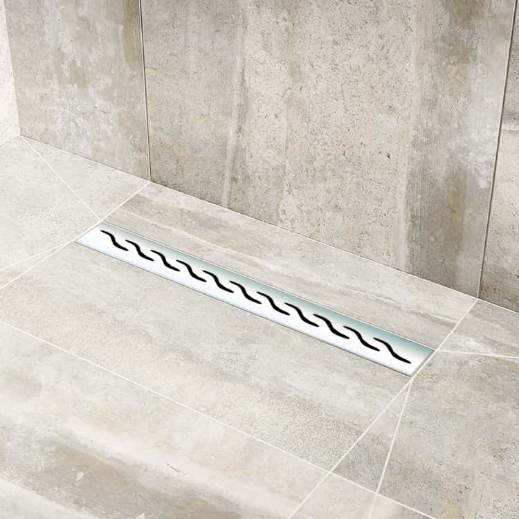 Shower Lay Wetroom Tray With Linear Drain Designed For