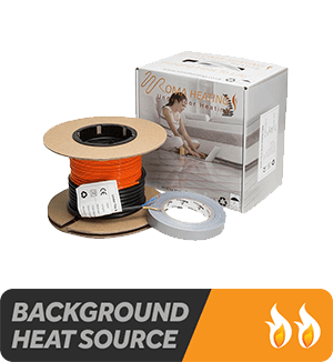 Electric Underfloor Heating Cable - Suitable as a background heat source