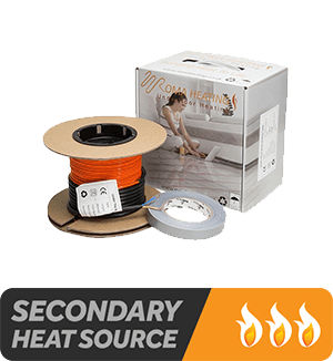 Electric Underfloor Heating Cable - Suitable as a secondary heat source